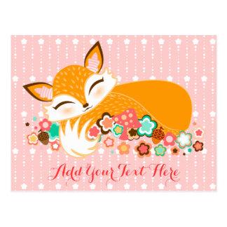 Lil Foxie CUB - carte postale mignonne de coutume