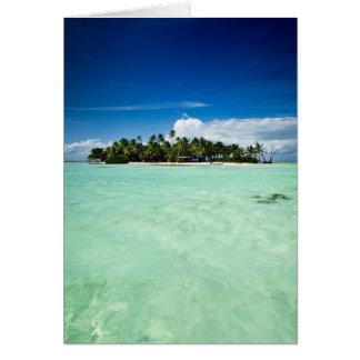 L'île du Pacifique avec la carte de voeux de Carte