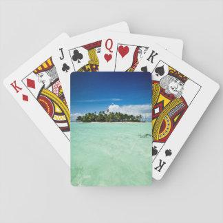 L'île du Pacifique avec la plate-forme de Cartes À Jouer