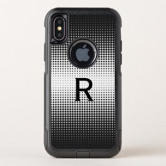 L'image tramée noire pointille le cas de l'iPhone
