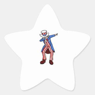 Limande d'Oncle Sam Sticker Étoile