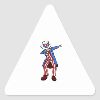 Limande d'Oncle Sam Sticker Triangulaire