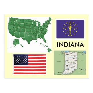 L'Indiana, Etats-Unis Carte Postale