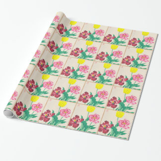 L'indigène fleurit l'art de Shodo Kawarazaki Papier Cadeau