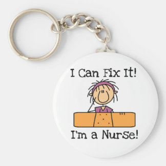 L'infirmière I peut le fixer T-shirts et cadeaux Porte-clé Rond