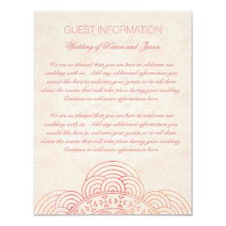 L'information chic d'invité de mariage de Boho de Carton D'invitation 10,79 Cm X 13,97 Cm