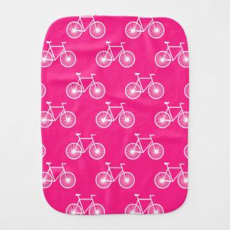 Linge De Bébé Bicyclette blanche, motif de recyclage ; Rose de