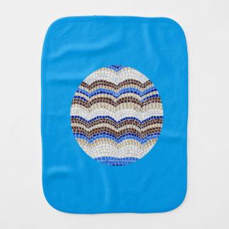 Linge de bébé bleu de mosaïque