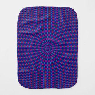 Linge De Bébé Cercles géométriques bleus et rouges de linge de