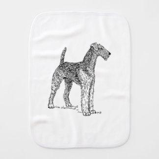 Linge De Bébé Dessin élégant de chien d'Airedale Terrier