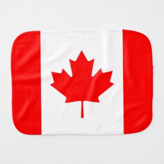 Linge De Bébé Drapeau canadien de feuille d'érable rouge du