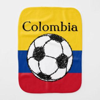 Linge De Bébé Drapeau colombien avec le football