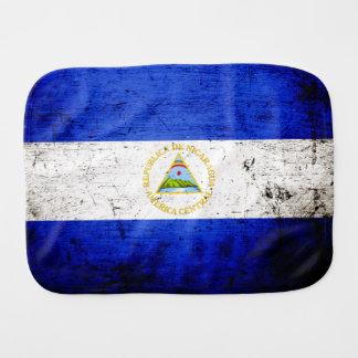 Linge De Bébé Drapeau grunge noir du Nicaragua