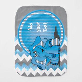 Linge De Bébé Éléphant bleu mignon drôle de Chevron