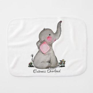 Linge De Bébé L'éléphant mignon de bébé d'aquarelle avec