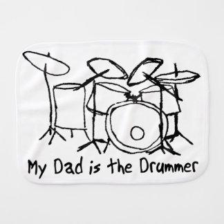 Linge De Bébé Mon papa est le batteur