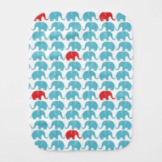 Linge De Bébé motif d'éléphant avec l'accent rouge