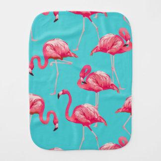 Linge De Bébé Oiseaux roses de flamant sur l'arrière - plan de