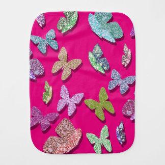 Linge De Bébé Papillons texturisés de flottement de couleur de