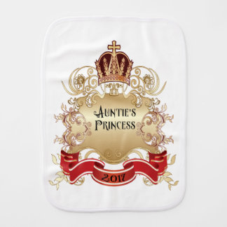 Linge De Bébé Princesse Burp Tissu-Blanc de la tante