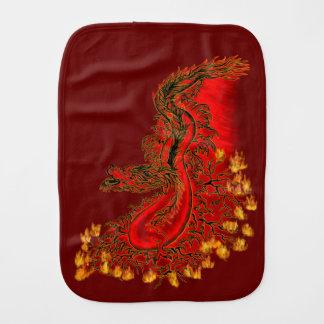 Linge De Bébé Rouge de dragon de la Chine et conception d'or