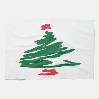 Linge De Cuisine Arbre de Noël