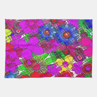Linge De Cuisine Beau DES floral extraordinaire coloré énervé de
