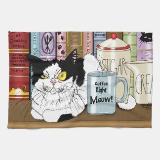 Linge De Cuisine Bon Meow de café ! !