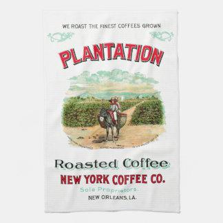 Linge De Cuisine Café rôti par plantation