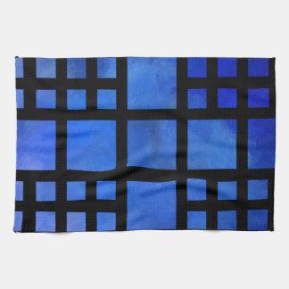 Linge De Cuisine Cappanella V1 - carrés bleus