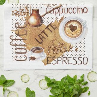 Linge De Cuisine Cappuccino de Latte de café