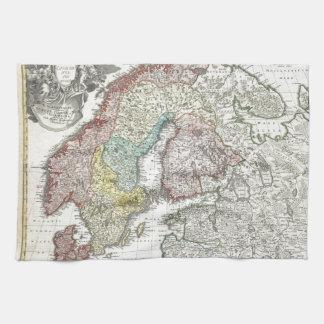 Linge De Cuisine Carte scandinave vintage