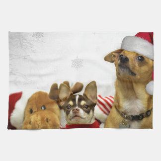 Linge De Cuisine Chiens de chiwawa de Noël