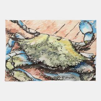 Linge De Cuisine Crabe bleu