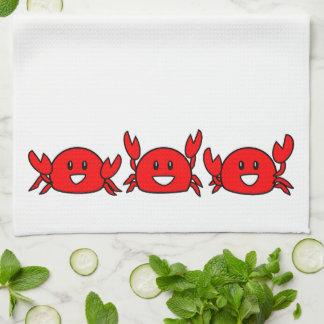 Linge De Cuisine Crabes rouges heureux