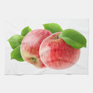 Linge De Cuisine Deux pommes rouges