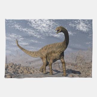 Linge De Cuisine Dinosaure de Spinophorosaurus marchant dans le