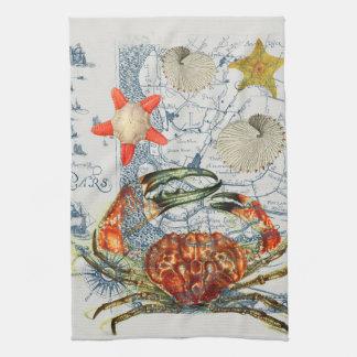 Linge De Cuisine étoiles de mer désagréables de carte