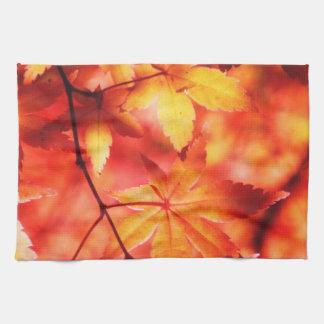 Linge De Cuisine Feuille d'automne d'or orange d'érable