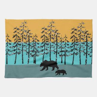 Linge De Cuisine Graphiques frais d'ours de maman de paysage de