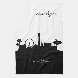 Linge De Cuisine Horizon noir et blanc de Las Vegas
