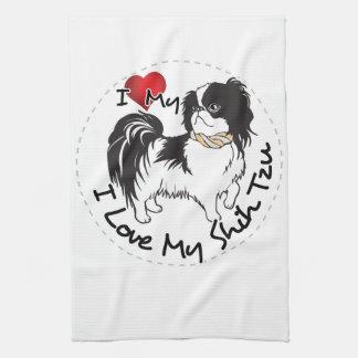 Linge De Cuisine J'aime mon chien de Shih Tzu