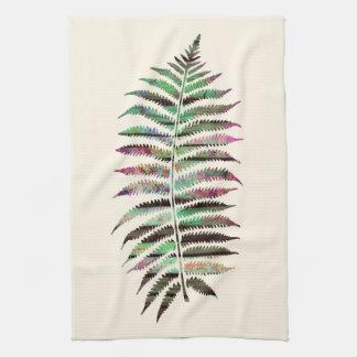 Linge De Cuisine Jolie feuille botanique abstraite de paon