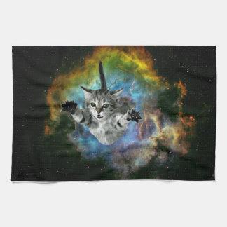Linge De Cuisine Lancement de chaton d'univers de chat de galaxie