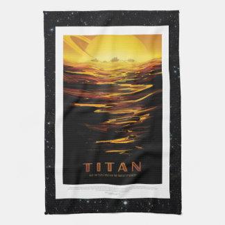Linge De Cuisine Lune de titan du tourisme d'espace d'annonce de