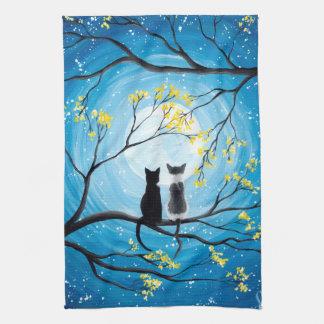 Linge De Cuisine Lune lunatique avec des chats
