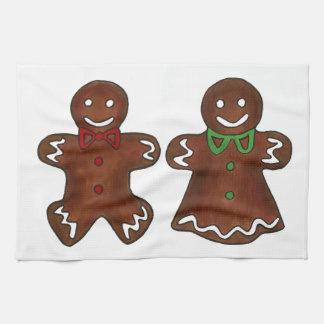 Linge De Cuisine Madame Christmas Cookies Towel de bonhomme en pain