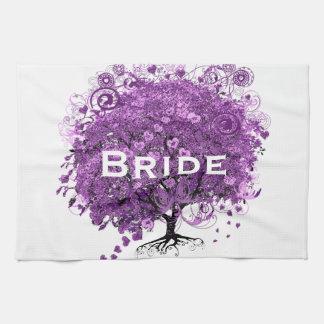 Linge De Cuisine Mariage d'arbre de feuille de Purple Heart de