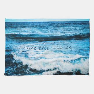 """Linge De Cuisine """"Montez la cuisine bleue de photo d'océan d'Hawaï"""