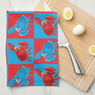 Linge De Cuisine Mosaïque de crabe de bande dessinée